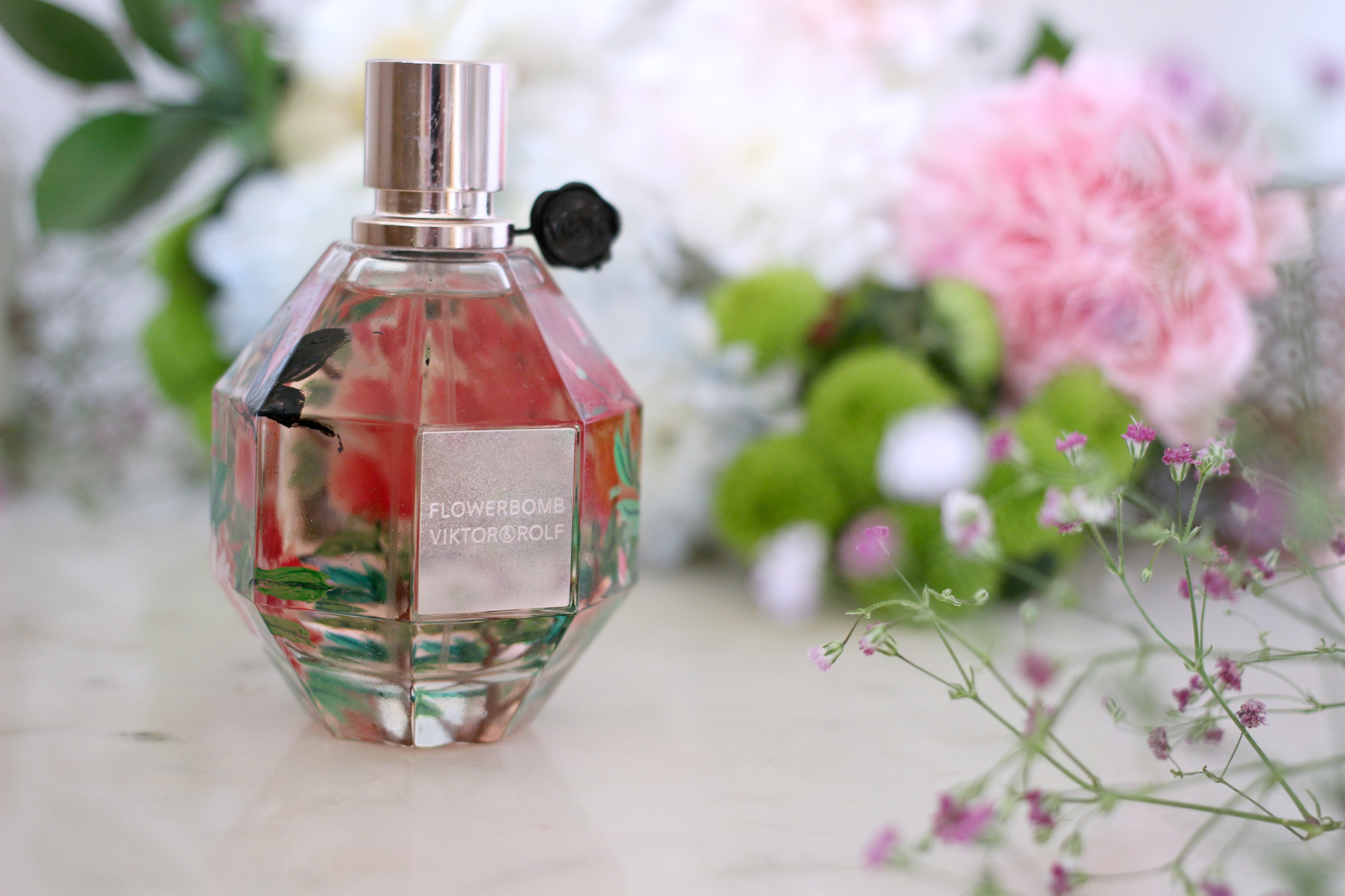 Luxury Mothers Day Gift Guide - Fashion Mumblr blog Hand Painted Flowerbomb Perfume