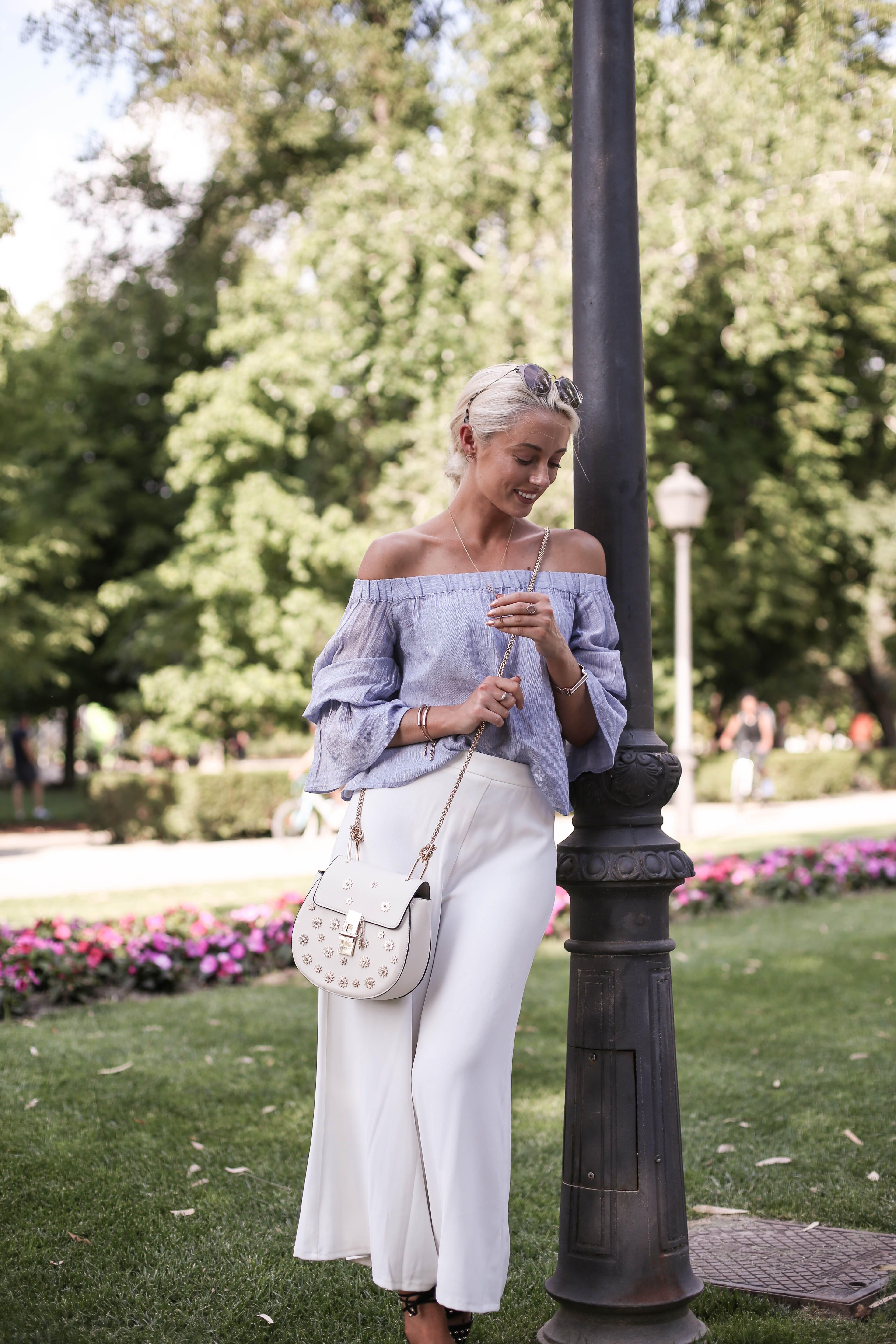 What I Wore at Crystal Palace – Top by Club Monaco \\ Culottes by New Look \\ Shoes by River Island \\ Bag by SheIn \\ Glasses by River Island \\ Earrings ...