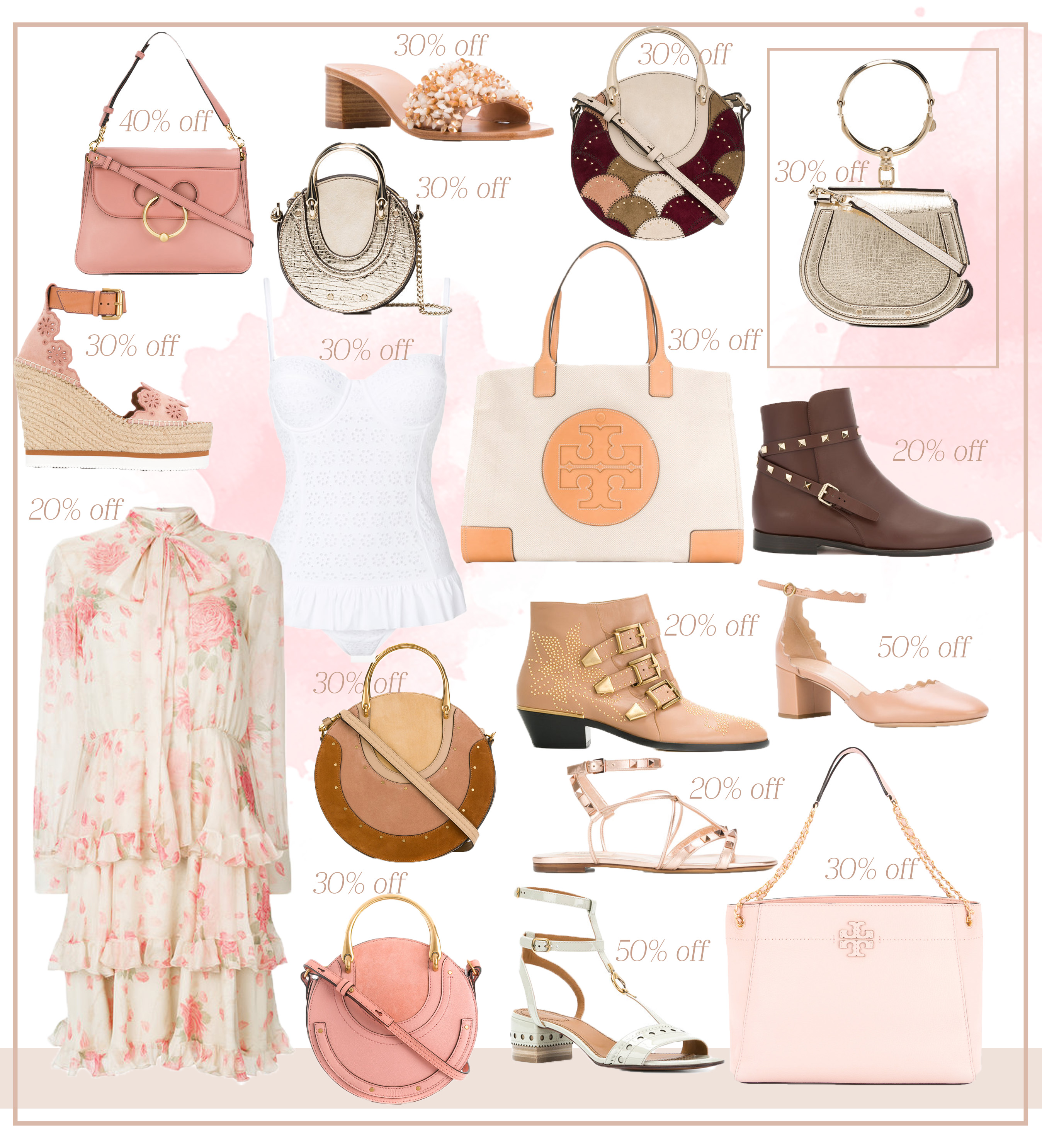 95421b407b08 J.W Anderson pierce bag // Tory Burch sandals // Chloé Pixie bag in  patchwork // Chloé Pixie bag in metallic // Chloé Nile bag // See by Chloé  wedges ...